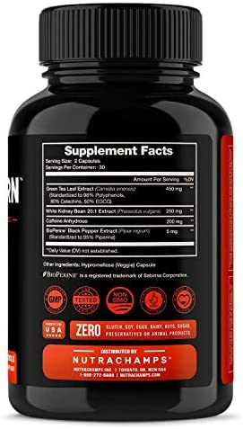 Fat Burner for Women & Men - Thermogenic Weight Loss Supplement with Green Tea Extract & White Kidney Bean - Carb Blocker, Appetite Suppressant, Energy & Metabolism Booster - 60 Diet Pills 4