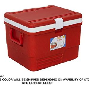 Aristo Plastic Insulated Icebox, 25 Liter, Red/Blue