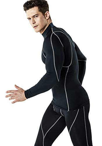TSLA Men's Mock Long-Sleeved T-Shirt Cool Dry Compression Baselayer Top 19 Fashion Online Shop gifts for her gifts for him womens full figure