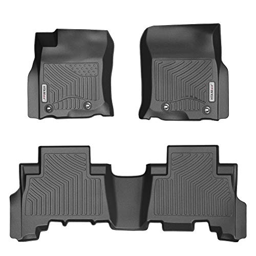 YITAMOTOR Floor Mats Compatible for 2013-2019 Toyota 4Runner / 2014-2019 Lexus GX460,Includes 1st & 2nd Row All Weather Custom Fit Floor Liners