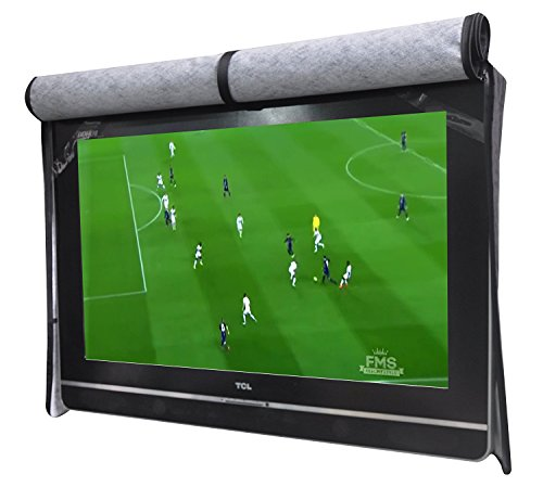 "A1Cover Outdoor 55"" TV Set Cover ,Scratch Resistant Liner Protect LED Screen Best-Compatible with Standard Mounts and Stands (Black)"