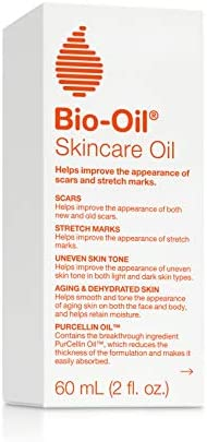 Bio-Oil Skincare Oil, 2 Ounce,   Body Oil for Scars and Stretchmarks, Hydrates Skin, Non-Greasy, Dermatologist Recommended, Non-Comedogenic, For All Skin Types, with Vitamin A, E 5