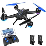 Drone Quadcopter with WiFi 720P HD Camera, HALOFUNO RC Drone Helicopter with Voice/App Control Altitude Hold Headless Mode 3D Flip One Key Take Off/Landing