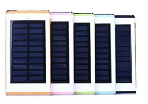 Solar Power Bank 10000 mAh by OSEnviroTech – Outdoor Portable Power Bank with Three USB Ports and LED Flashlight