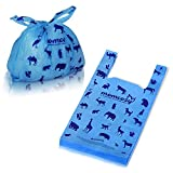 Momcozy Diaper Disposable Bags, Poop Bags with Tie Handle, Durable and Unscented Portable Disposable Waste Bag for Dirty Diapers, Pet Waste, Fruit Peels, Food Debris - 90 PCS