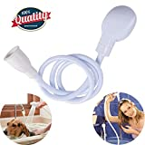 Portable Shampoo Sprayer,Pet Shower Sprayer Sink Spray Hose Bath Tub Sink Faucet Attachment Washing Shower Head Dog Shower Pet Bath Handled Shower head