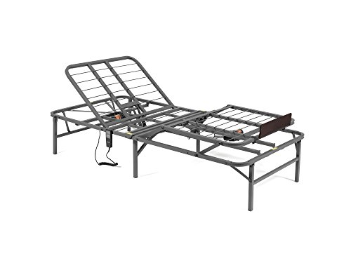 Pragma Bed Pragmatic Adjustable Bed Frame, Head and Foot, Twin X-Large, Gray