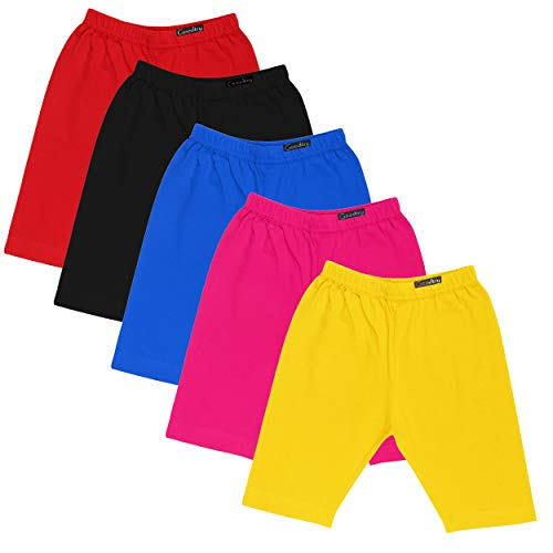 GOODTRY Girls Cotton Cycling Shorts Pack of 5-Multicolor 1  GOODTRY Girls Cotton Cycling Shorts Pack of 5-Multicolor 41yzyHIXsxL