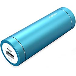 AUKEY 5000mAh Portable Charger, Compact Size Power Bank with 5V/2A Output External Battery for iPhone iPad Samsung Google and More - Blue