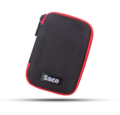 Saco Shock Proof Pocket Organizer Eva External Hard Disk Case Pouch for SanDisk 500GB Extreme Portable SSD (SDSSDE60-500G-G25) 9