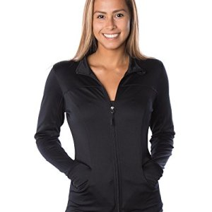 Global Women's Slim Fit Lightweight Full Zip Yoga Workout Jacket 19 Fashion Online Shop gifts for her gifts for him womens full figure