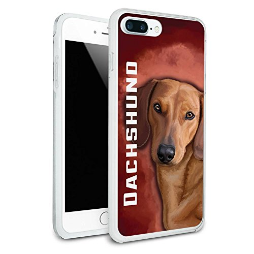 Dachshund Protective Slim Hybrid Rubber Bumper Case for Apple iPhone 7 or iPhone 7 Plus