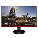 AOC G2590FX 25' Framless Gaming Monitor, FHD 1920x1080, 1ms, 144Hz, G-SYNC Compatible+AdaptiveSync, 96% sRGB, DisplayPort/HDMI/VGA, VESA, 25 inch, Black / Red