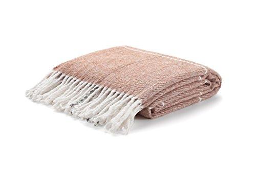 Arus Highlands Collection Tartan Plaid Design Throw Blanket Brown 60