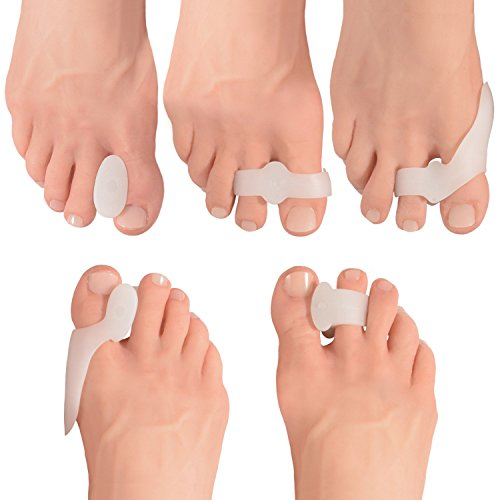 Dr. Frederick's Original 14 Piece Bunion Pad & Spacer Kit - 7 Pairs of Soft Gel Toe Separators & Bunion Cushions - One Size Fits All Bunions Treatment - Fast Bunion Relief - Wear with Shoes...