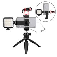 Smartphone Video Microphone Kit with LED Light,Phone Holder,Tripod Vertical & Horizontal Vlog YouTube Filmmaker Video…