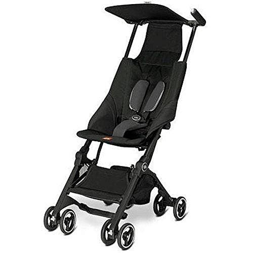 Pockit Lightweight Stroller, Monument Black, 9.5 Pounds