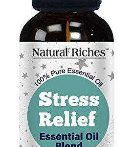 Natural Riches Stress Away Essential Oil Blend for Anxiety Relief 30ml – Stress Relief and Anxiety relief with our Anxiety Essential Oil for Relaxation, Aromatherapy, for Calming Soothing Environment