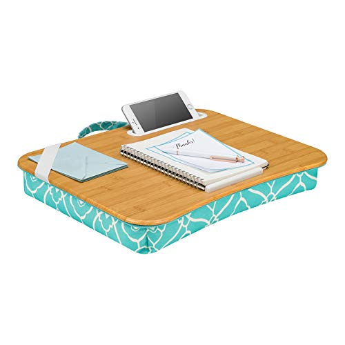 LapGear Designer Lap Desk - Aqua Trellis (Fits up to 15.6' Laptop) - Style #45422