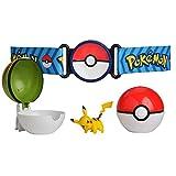 Pokemon Clip 'N' Go Poke Ball Belt Set, comes with Poké Ball, Nest Ball and 2 inch Pikachu figure.