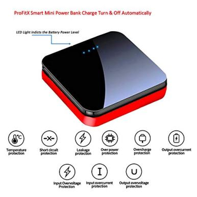ProFitX-Mini-Compact-Portable-Power-Bank-20000mAh-with-USB-Port-2-Adapters-Compatible-with-All-Phones-TabletsBonusTravel-Storage-Case-red
