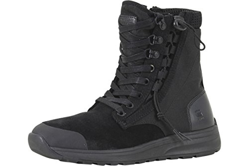 41zKLyL4BnL Suede/Synthetic/Mesh Upper 8 Hole Lace-Up Closure With Metal Eyelets; Drawstring Closure At Outside; Zipper Closure At Inside Textile/Mesh Lining