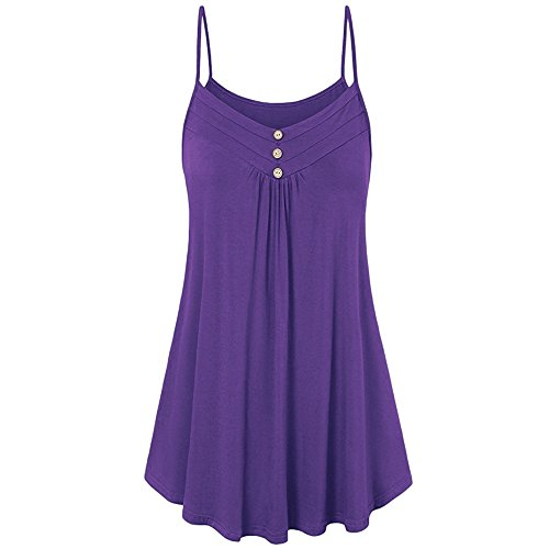 Mysky Women Plus Size S-71X Button Low Neck Irregular Tunic Top Long Sleeve Shirts Ladies Classic Pure Loose Mini Dress Purple