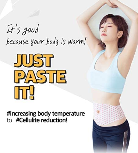 Spa Gelpatch 42 Degree Body Wrap Cellulite Contouring Slimming for Women & Men Capsaicin Caffeine Natural Ingredients Fast Natural Heating Slim Skinny Fit Sticker (Belly Patch (Pack of 5)) 3