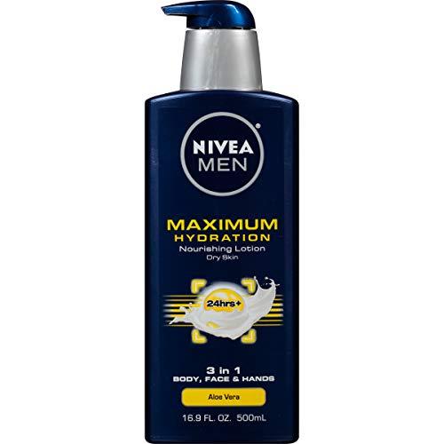 NIVEA Men Maximum Hydration 3-in-1 Nourishing Lotion - Body, Face, Hands - 16.9 oz. Pump Bottle