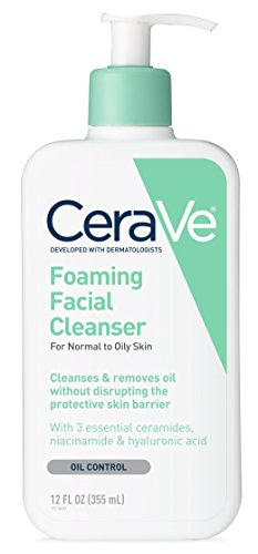 CeraVe Foaming Facial Cleanser | 12 Fl. Oz | Daily Face Wash for Oily Skin | Fragrance Free