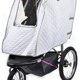 Baby Stroller Rain Cover – Provides Extra Warmth and Shields your Child from Wind and Rain. Universal Size, Mesh…