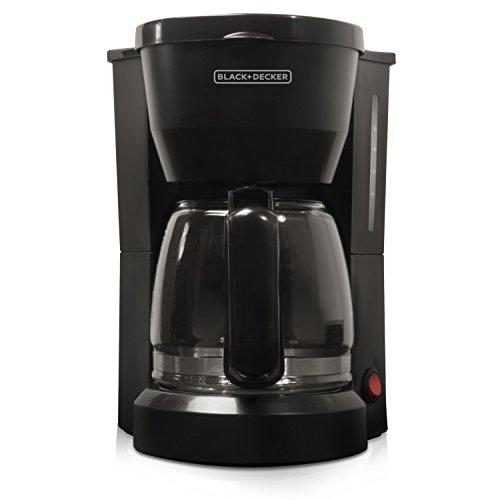 BLACK+DECKER 5-Cup Coffeemaker, Black, DCM600B