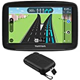 TomTom (1AA5.019.01 Automobile Portable 5' GPS Navigator w/Lifetime Traffic and Lifetime Maps + Extreme Speed Hard EVA Case w/Zipper for 5 Inch Tablets and GPS