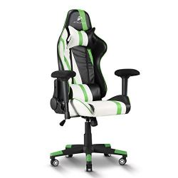 Atelerix Ventris Gaming Chair – PU Leather, Fabric, & Extra Wide Options – Office or Computer Chair – Tilting & Ergonomic Adjustable Swivel Game Chair w/ 4D Covered Armrests, Headrest & Lumbar Support