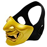 Unionm Halloween Mask, Masquerade Mask, Halloween Props, Half Face Devil Mask Cosplay Samurai Halloween Party Festival Ghost Face Mask