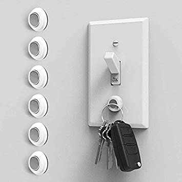 Amazon Com Eutuxia Magnetic Key Holder For Wall Get Your Car Home Keys Easier And Faster Heavy Duty Magnets Wall Key Holder No Drilling 3m Key Hook 6 Pk Office Products
