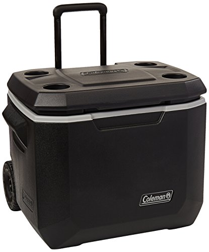 Coleman Wheeled Cooler | Xtreme Cooler Keeps Ice Up to 5 Days | Heavy-Duty 50-Quart Cooler with Wheels for Camping, BBQs, Tailgating & Outdoor Activities