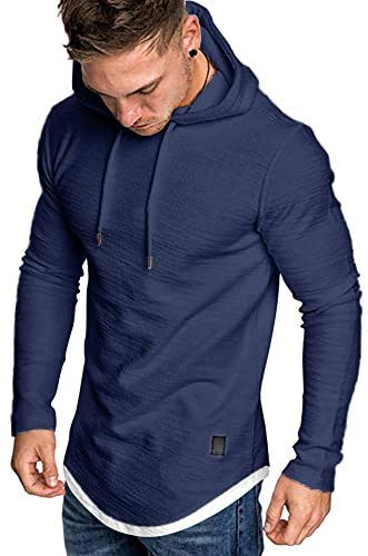 MorwenVeo Men's Casual Hooded T-Shirts – Fashion Short Sleeve Solid Color Pullover Top Blouse