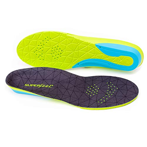Superfeet FLEXmax, Comfort Insoles for Roomy Athletic Shoe Maximum Cushion and Support, Unisex, Emerald, Medium/D: 8.5-10 Wmns/7.5-9 Mens