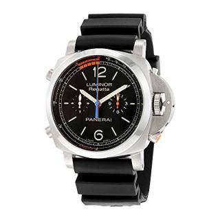 Panerai Luminor 1950 3 Day Chrono Flyback Regatta Black Dial Mens Watch PAM00526