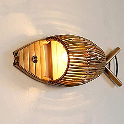 Lighting Decorative Wall Light Larva Retro Attic Restaurant Fish Wall Lamp Shop Corridor Design Personality Bamboo Wall Lamp Buy Online At Best Price In Uae Amazon Ae