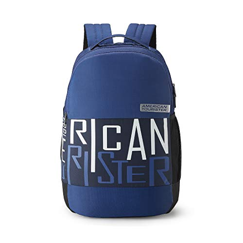 41zh48Fd7KL - American Tourister Bounce 28 Ltrs Blue Casual Backpack (FR9 (0) 01 001)