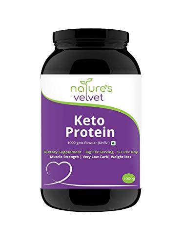 Nature's velvet Protein Powder, Keto Diet Supplement, Low Carb Proteins, 1000 g (Unflavoured)