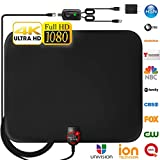 [Newest 2019] Amplified HD Digital TV Antenna Long 120 Miles Range - Support 4K 1080p and All Older TV's Indoor Powerful HDTV Amplifier Signal Booster - 18ft Coax Cable/USB Power Adapter