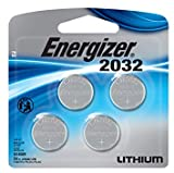 Energizer Watch/Electronic Batteries, 3 Volts, 2032, 4 (2x2) Batteries (Lithium Button Cell)