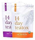 14 Day and Night Detox Tea - Teatox (28 Tea Bags) - Organic All Natural Antioxidant Weight Loss Tea, Herbal Body Detox Cleanse, with Refreshing Taste - Vida Tea