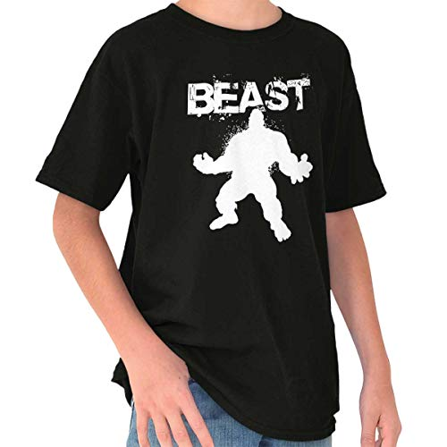 Giant Beast Workout Gym Fitness Muscle Youth T Shirt Black