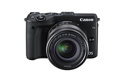 Canon EOS M3 Mirrorless Camera Kit with EF-M 18-55mm Image Stabilization (IS) STM Lens - Wi-Fi Enabled (Black)