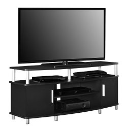 Ameriwood Home Carson TV Stand for TVs up to 50″, Black