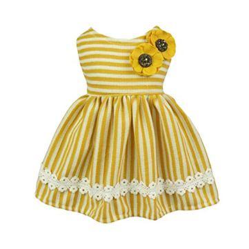 Fitwarm-Flowers-Pet-Clothes-for-Dog-Dresses-Vest-Shirts-Sundress-Yellow-XS